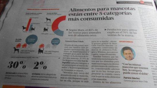 Nota sobre las mascotas y el alimento que leí con mucho interés en el diario del fin de semana.
