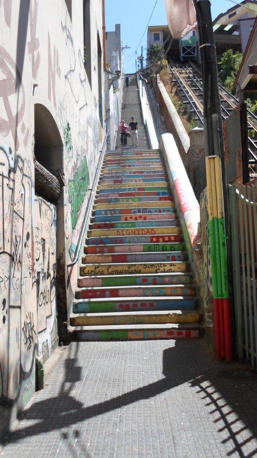 Me gusta la idea de pintar las escaleras.