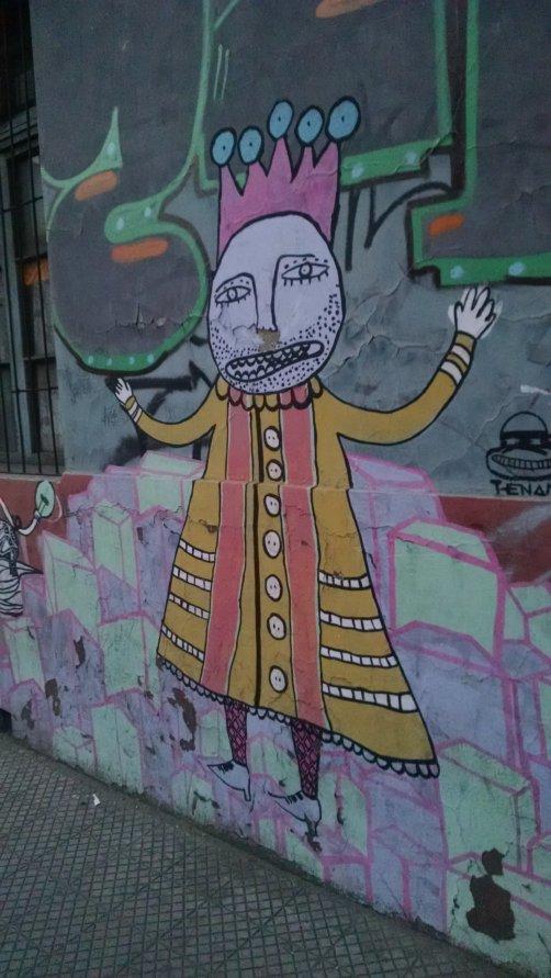 Graffitis en el barrio Yungay.