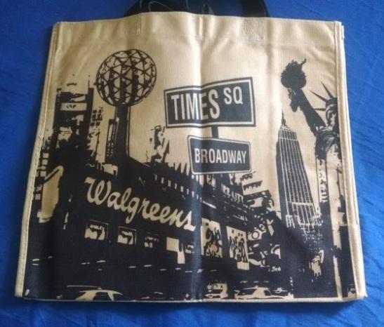 Bolso de Wallgreens con los íconos de NY.